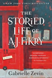 Book cover showing a red bookstore door and display window