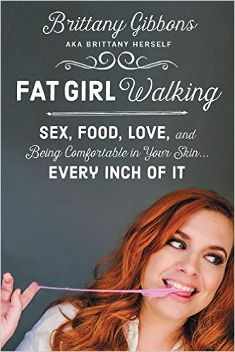 A redheaded woman pulling partially chewed bubblegum out of her mouth below a mixed-font title
