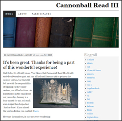 Our very first group blog: cannonballread3.wordpress.com