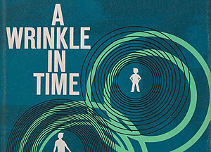 Wrinkle in Time book cover.