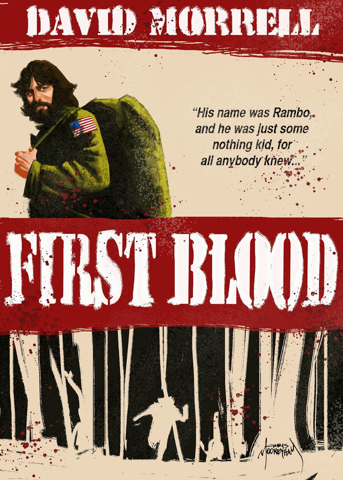 Book cover for First Blood by David Morrell