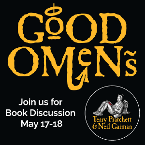 May Book Club: Good Omens by Neil Gaiman and Terry Pratchett