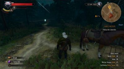 Screen-cap of the Witcher 3. Evil Fetus demon baby
