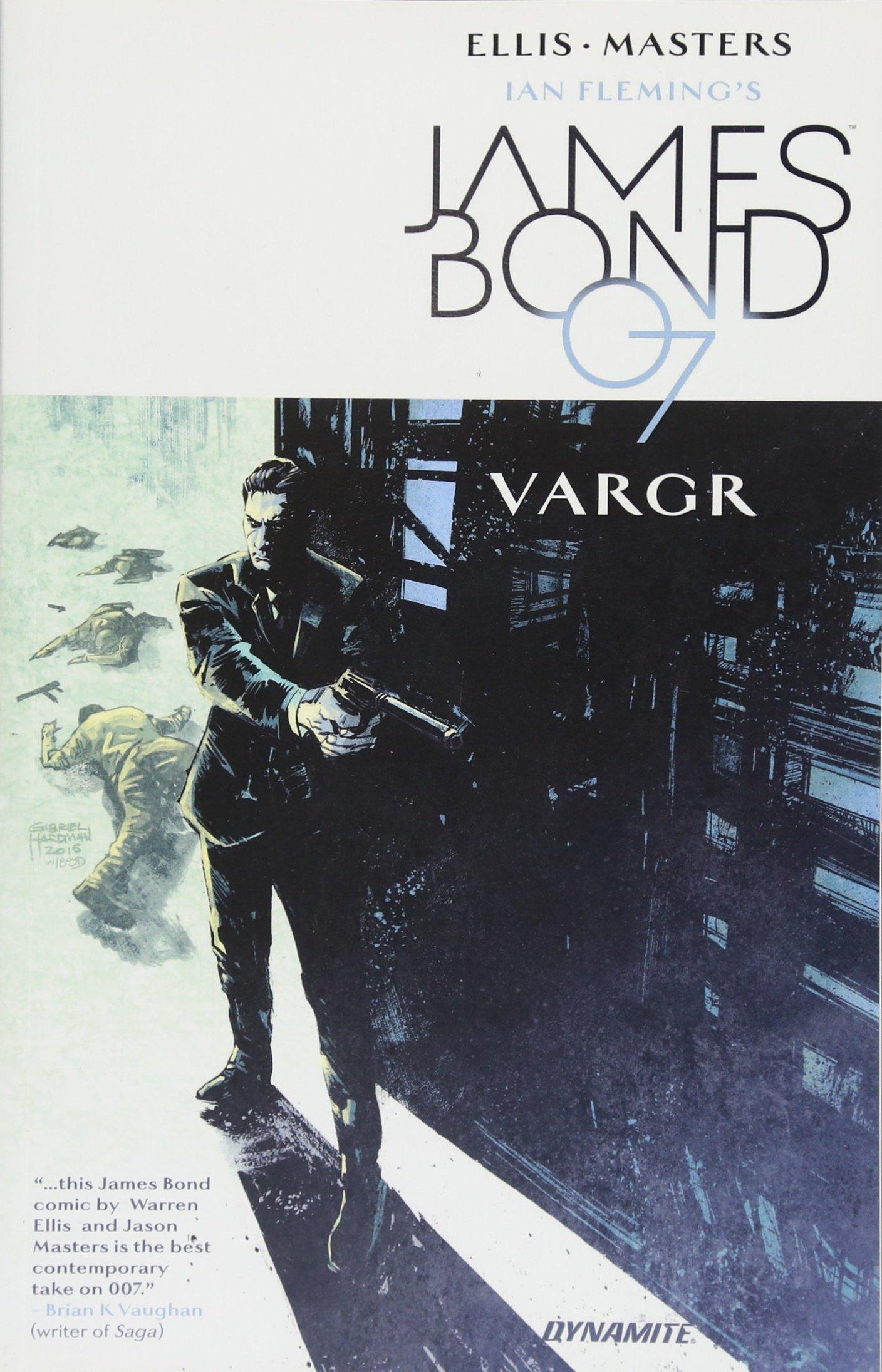 James Bond holding a gun.